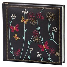 Raven Floral Vine Picture Album in Black