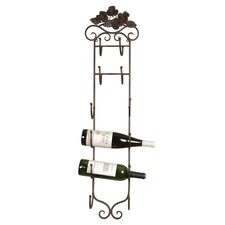 6 Bottle Wall Rack in Bronze