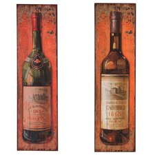 Wine Bottle Metal Plaque