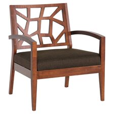 Jennifer Arm Chair in Walnut & Dark Brown