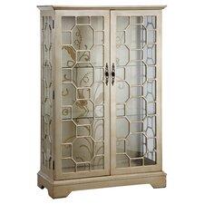 Cosmopolitan Curio Cabinet in Metallic