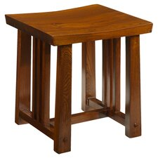 Asian Contemporary Dressing Stool in Elm