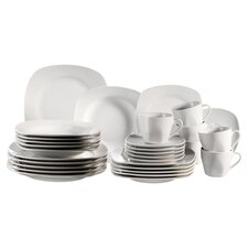 Villa 30 Piece Dinnerware Set in White