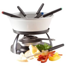 9 Piece Fondue Set in White