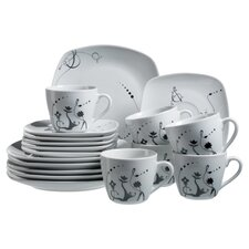 Chanson 18 Piece Coffee Set in White