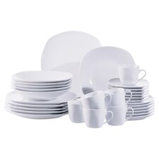 Cosmo 30 Piece Dinnerware Set in Uni White