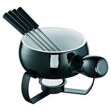 5 Piece Fondue Set in Black