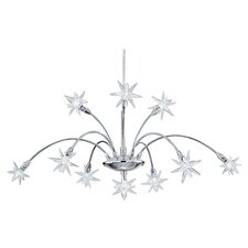 Stars 10 Light Chandelier in Chrome