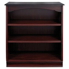 York 3 Shelf Bookcase in Mahogany