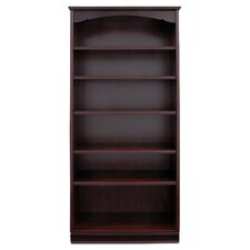 York 6 Shelf Bookcase in Mahogany