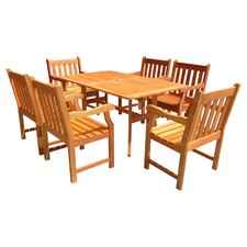 Atlantic 7 Piece Dining Set in Natural