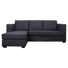 Stockholm 3 Seater Sectional Sofa in Charcoal