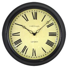 Lascelles Station Clock in Cream & Black