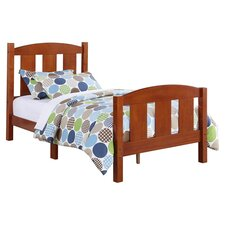 Twin Slat Bed in Dark Pine