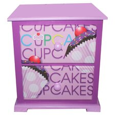 Cup Cake Collection Nightstand in Lavender