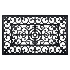 Wrought Iron Rectangle Mat in Black