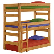 Alexis Twin Over Twin Triple Bunk Bed in Ginger Stain