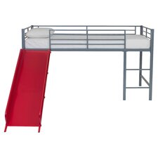 Fantasy Junior Twin Loft Bed in Silver