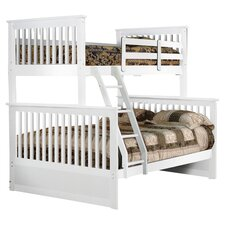 Brooklin Twin Over Full Bunk Bed in White