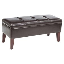 Brook Bedroom Storage Bench in Brown