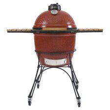 Ceramic Charcoal Grill in Red