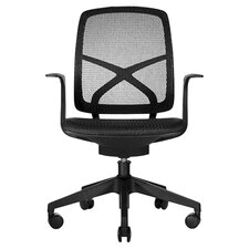 Phelps Low-Back Mesh Chair in Black