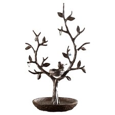 Bird and Twig Jewelry Stand in Aluminum