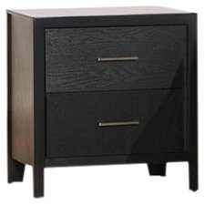Lincolnville 2 Drawer Nightstand in Black