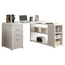 Theory Writing L-Desk in White