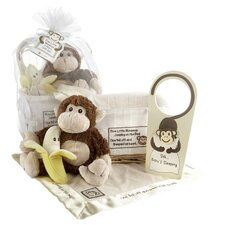 Five Little Monkeys 5 Piece Gift Set in Brown & Tan