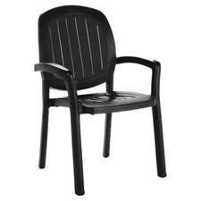 Kappa Stackable Arm Chair in Anthracite