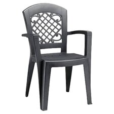 Juliette Stackable Dining Arm Chair in Anthracite