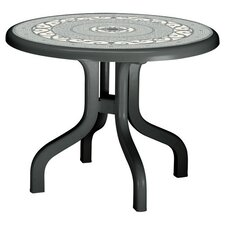 Ribalto Round Dining Table in Anthracite