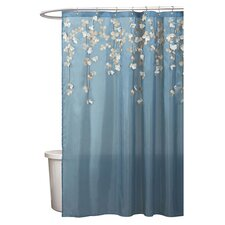 Flower Shower Curtain in Blue