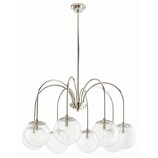 Zada 8 Light Chandelier in Polished Nickel
