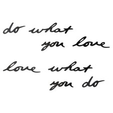 "Mantra ""Do What You Love"" Metal Wall Décor"