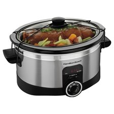 6 Quart Slow Cooker in Silver