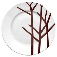 Season Dinner Plate in Brown & White