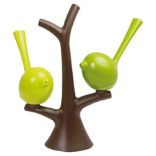 3 Piece Salt & Pepper Shaker Set in Lime & Green
