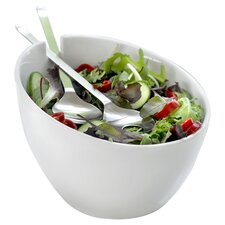Milano 3 Piece Salad Bowl Set I in White