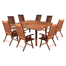 Brazil 7 Piece Dining Set in Natural