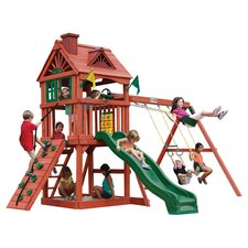 Nantucket Play & Swing Set in Redwood