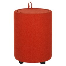 Luana Ottoman in Burnt Orange