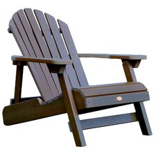 Highwood Reclining Adirondack Chair in Weathered Acorn