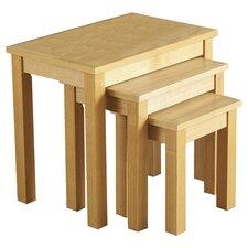 Alexander 3 Piece Nest of Tables in Oak