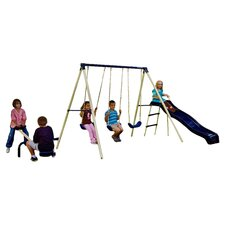 Triple Fun Swing Set in Beige