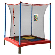 Cumberland 5' Square Trampoline & Enclosure Set in Red
