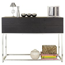 Shield Console Table in Black