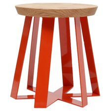 ARS Stool in Oak & Orange