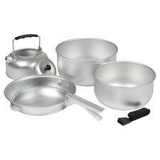 5 Piece Nonstick Cookware Set in Aluminium